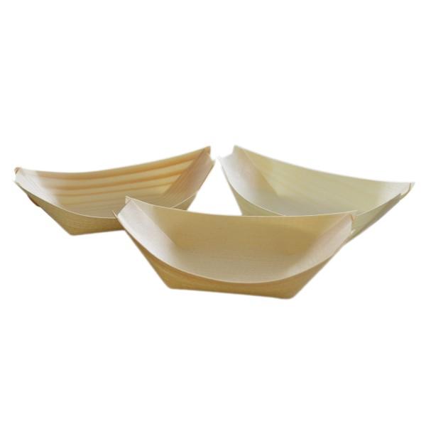 Fingerfood-Schale aus Holz, Schiffchen 110x70