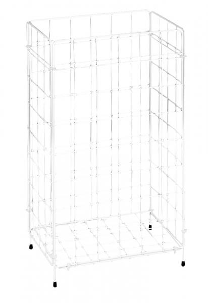Ständer für Müllsäcke Gitterabfallkorb, Metall, weiß - 1