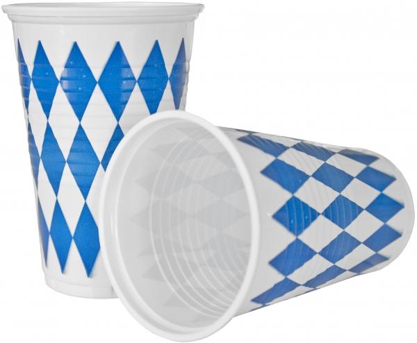 """A2 Trinkbecher pl 200ml mit Motiv """"Bayrisch Blau"""""""