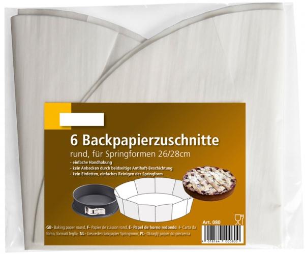 Backpapierzuschnitte beschichtet 380/420mm