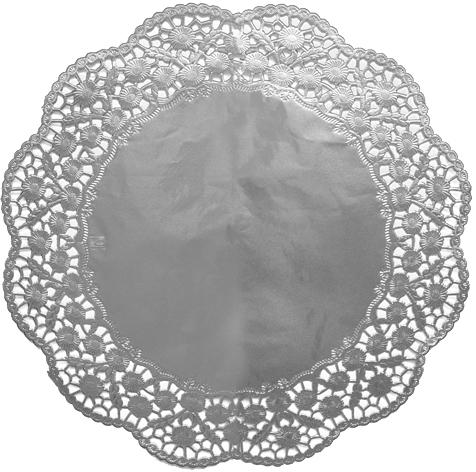 Tortenspitzen rund silber 360mm
