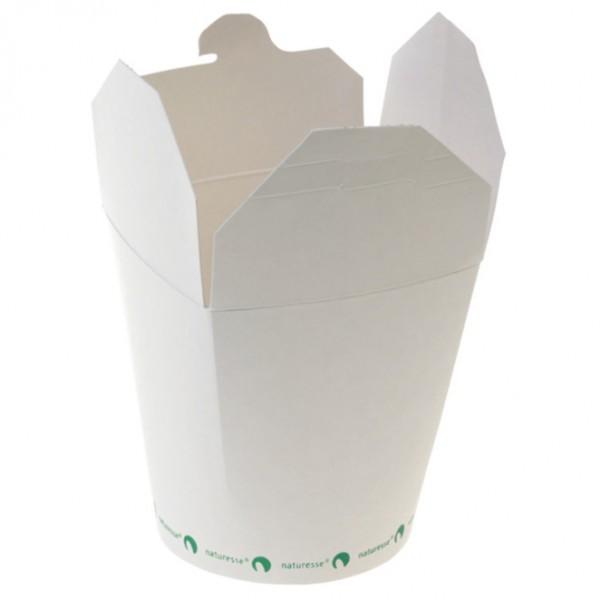 Bio Food Container 450ml weiß aus Zellulose , china tray