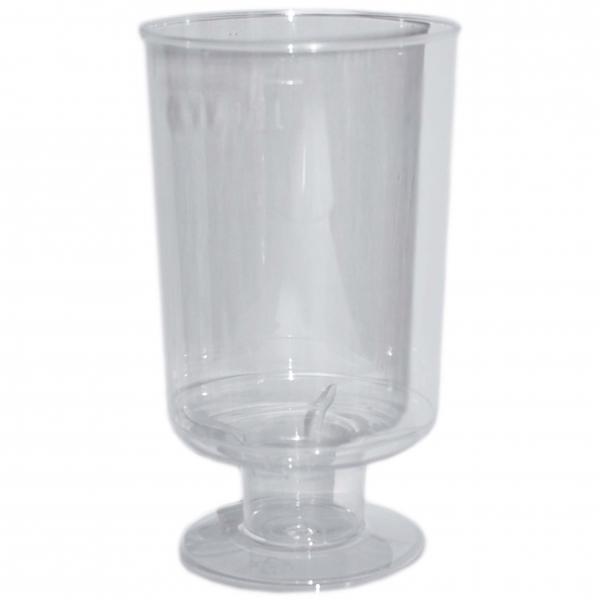 Trinkbecher Wein ps 100ml 50x92mm glasklar mit Fuß