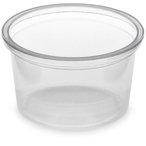 Dressingbecher 30ml rund pp transparent ohne Deckel