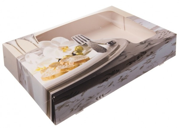 Transportkarton 540x360x80mm mit Sichtfenster - Diner