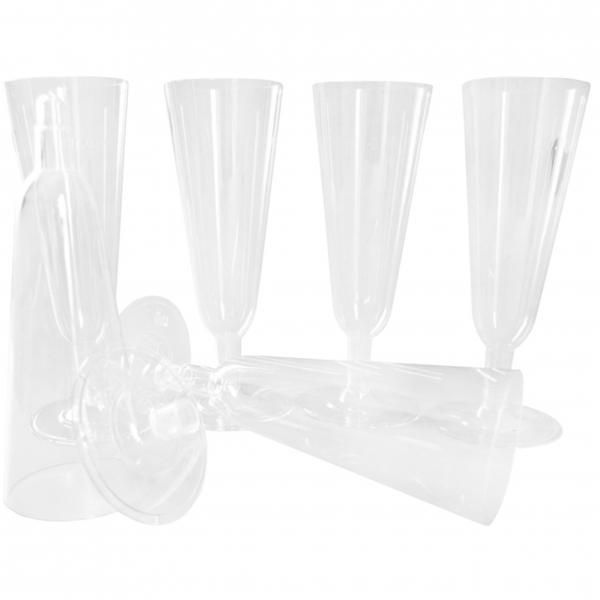 Trinkbecher Sektgläser ps 100ml glasklar mit Fuß