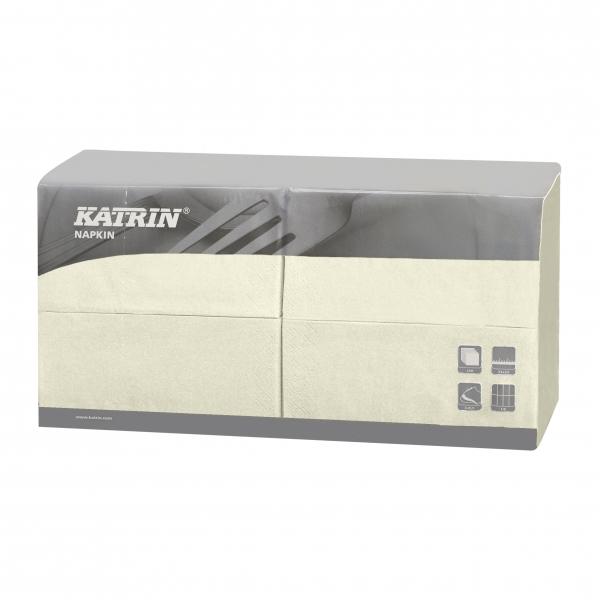 Creme Katrin Premium Servietten papier 330mm 3-lagig 1/8 Falz