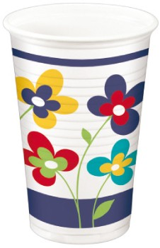 "A2 Trinkbecher pl 200ml mit Motiv ""Summer Flowers"""