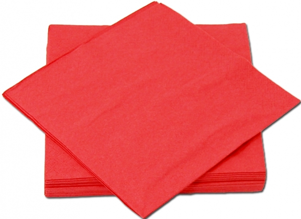 Rot Premium Servietten papier 330mm 3-lagig 1/4 Falz