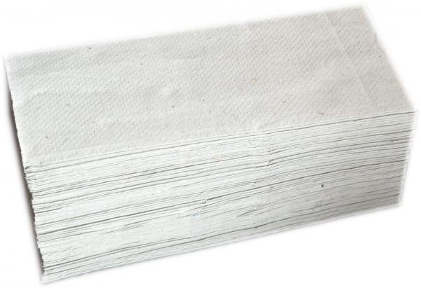Papierhandtücher 1-lagig naturweiß 250x230mm ZZ-Falz