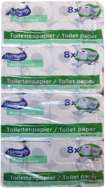 Toilettenpapier 2-lagig naturweiß 100x120mm - 64 Rollen