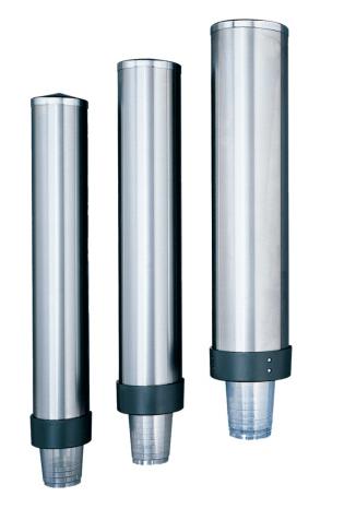 Becherspender aus Edelstahl für Becher mit Ø 70-80 mm, Wandmontage