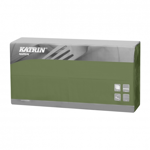 Grün Katrin Premium Servietten papier 400mm 3-lagig 1/8 Falz