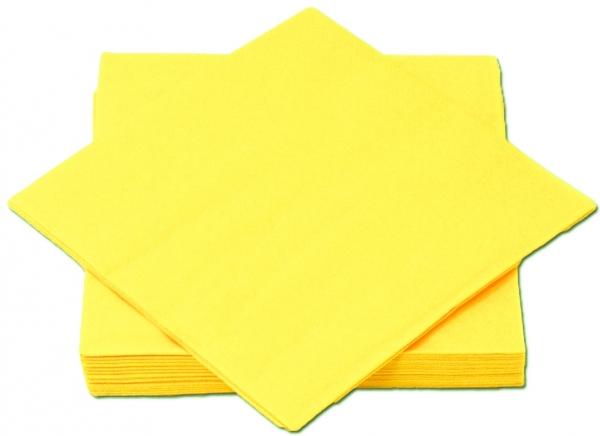 Gelb Premium Servietten papier 330mm 3-lagig 1/4 Falz