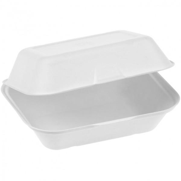 Zuckerrohr Food Box mit Klappdeckel mittel 18,5x14cm 7,4cm tief ca. 500ml, naturesse