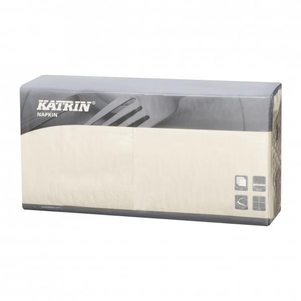 Creme Katrin Premium Servietten papier 400mm 3-lagig 1/4 Falz