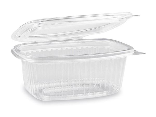 Feinkostbecher oval klar mit Deckel 250 ml (PP)