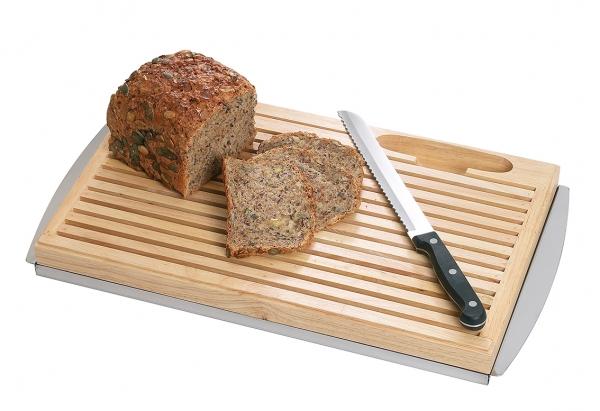 Schneidbrett, Brot, mit Messer