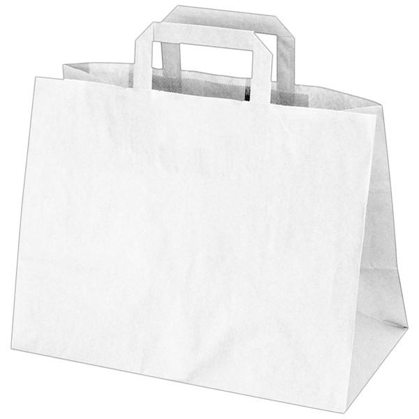 Tragetasche Papier weiß 320x160x270mm