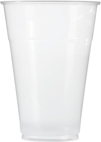 Bierbecher pp glasklar 400ml mit Schaumrand