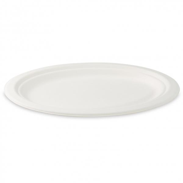 Bio Teller oval aus Zuckerrohr 260x200mm