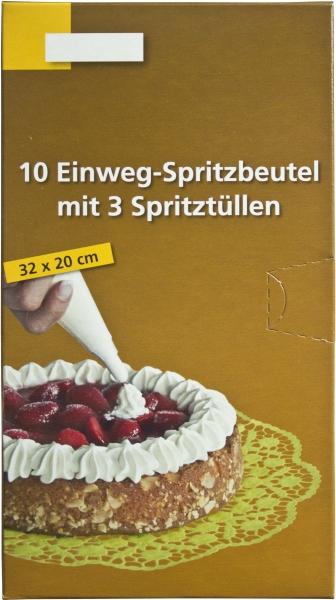 Spritzbeutel-Set 320x200mm + passende Tüllen