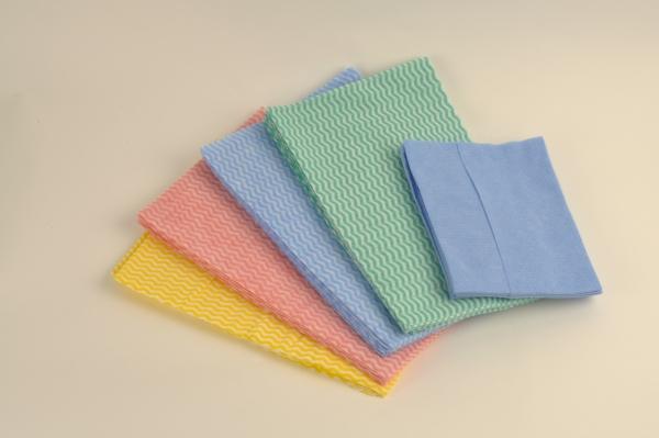 Airlaidtücher, Vließtücher / Rollen Semy Wash,gelb, Putztuch, 38x60cm - 6 x 50 Tücher