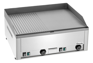 Bartscher Elektro Griddleplatte GDP 650E, glatt/gerillt