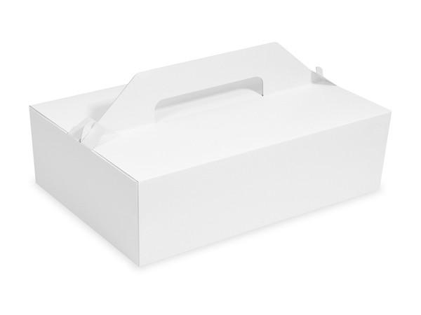 Tragebox für Tortenstücke pp 1-teilig weiß, 270x180x100mm
