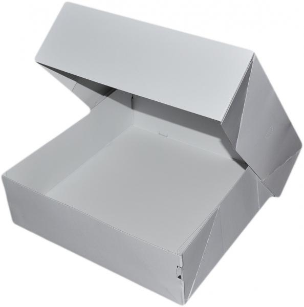 Tortenkarton pp weiß 2-teilig 328x328x108mm 650gr
