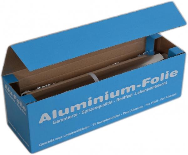 Alufolie alufarbend 300mmx150mx11my im Spenderkarton