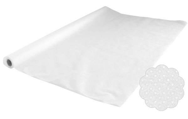 Vlies Tischtuchrollen uni, 5mx1,2m PP-Vlies weiß