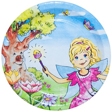 "B1 Pappteller rund flach ppk Motiv ""Princess Merlinda"" 230mm"