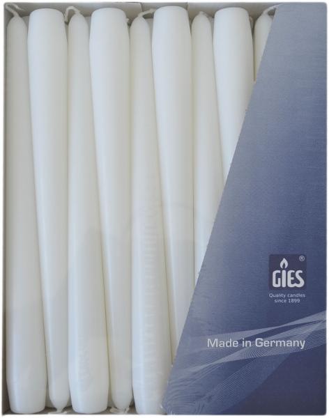Spitzkerzen Weiss 250mm