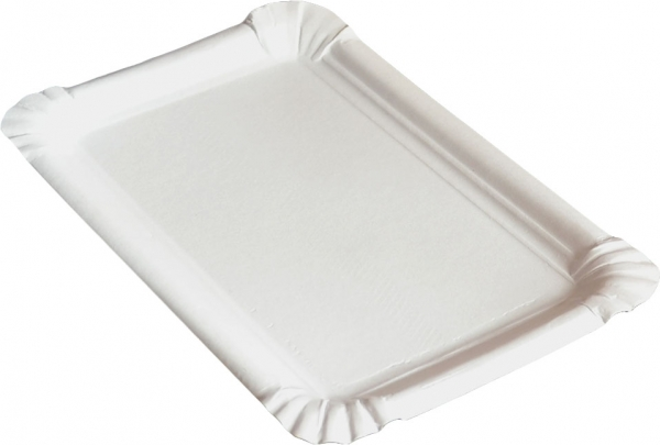 KU3 Pappteller eckig ppk weiß 160x230mm kunststoff beschichtet