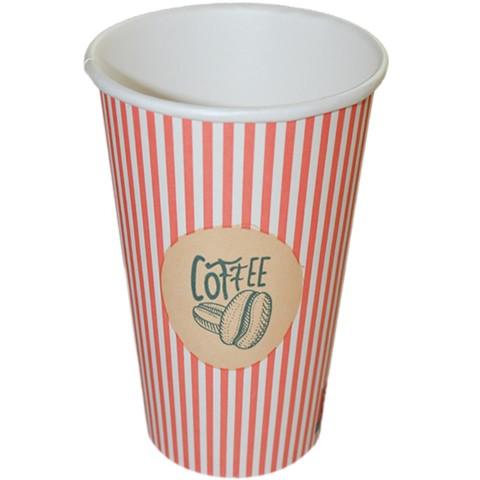 "B2 Kaffeebecher aus Pappe 400ml, Motiv ""Kaffeebohnen"", Coffee to Go"