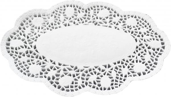 Tortenspitzen oval weiß 280x420mm