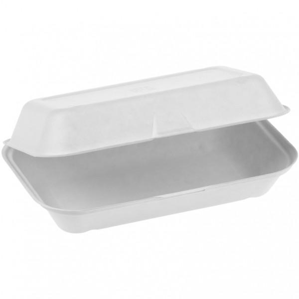 Zuckerrohr Food Box mit Klappdeckel groß 23,5x14cm 6,7cm tief