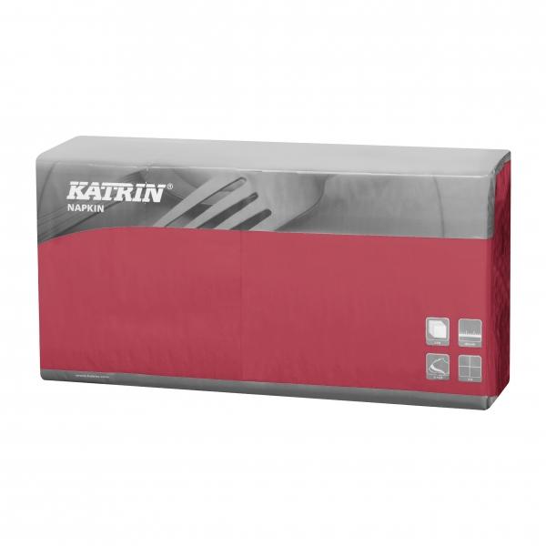 Bordeaux Katrin Premium Servietten papier 400mm 3-lagig 1/4 Falz