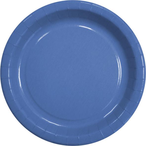 Pappteller rund flach ppk motiv blau 230mm geschirr Pappteller blau